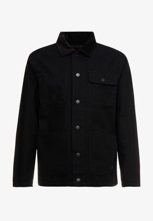 DRILL CHORE COAT - Lehká bunda - black