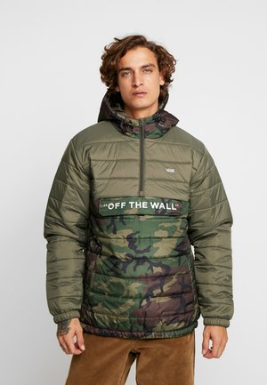 CARLON ANORAK PUFFER - Talvitakki - camo/grape leaf