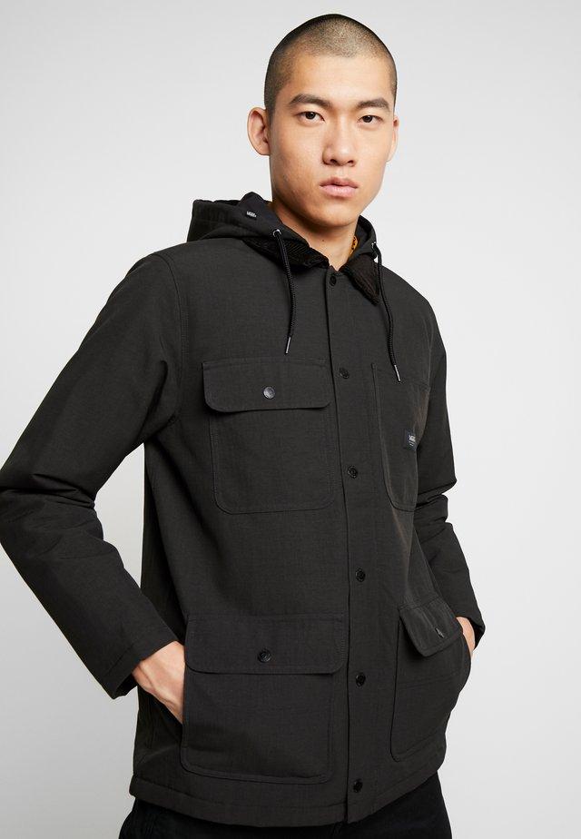 DRILL CHORE COAT - Light jacket - black