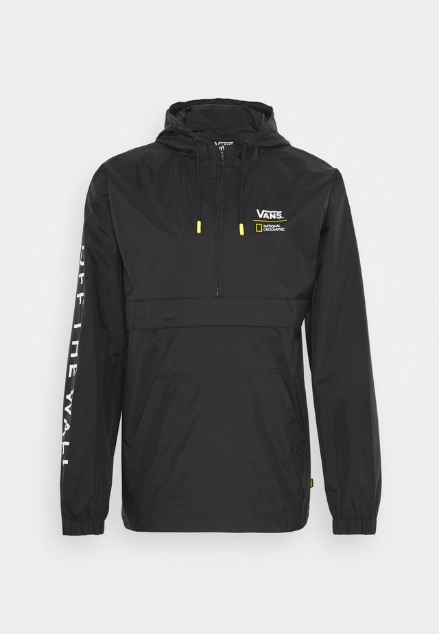 VANS X NATIONAL GEOGRAPHIC ANORAK - Windjack - black