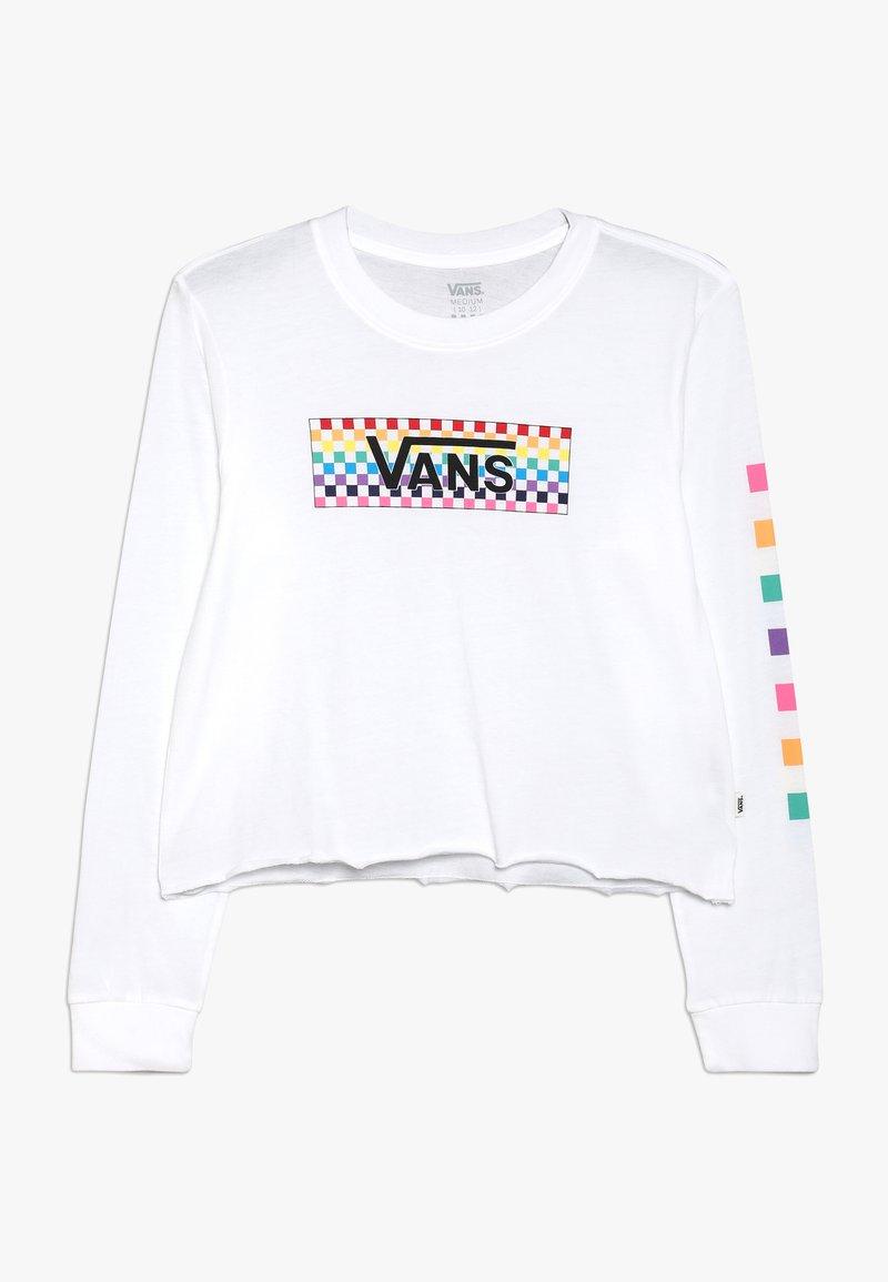 Vans - CHECK TANGLE CROP - Långärmad tröja - white
