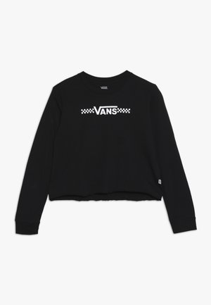 FUNNIER TIMES CROP - T-shirt à manches longues - black