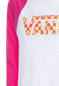 Vans - CHECK MY SHINE RAGLAN - Camiseta de manga larga - fuchsia purple/white - 2