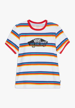 STRIPE - T-shirt imprimé - white/caribbean sea