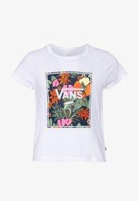 Vans - TROPIC - T-shirt print - white - 0