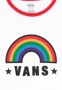 Vans - RAINBOW PATCH - Printtipaita - white/racing red - 3