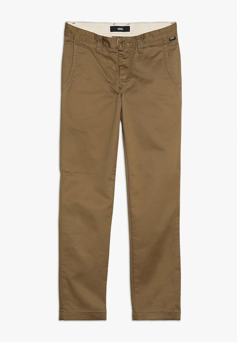 Vans - AUTHENTIC STRETCH BOYS - Chinos - dirt