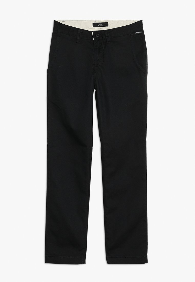 Vans - AUTHENTIC STRETCH BOYS - Pantalones chinos - black