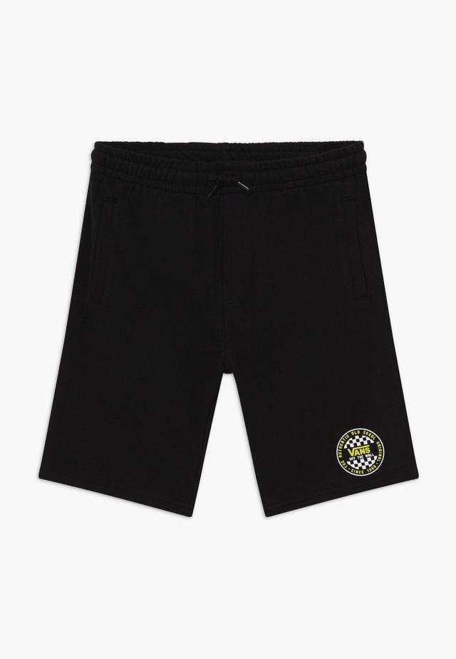 CHECKER BOYS - Träningsbyxor - black
