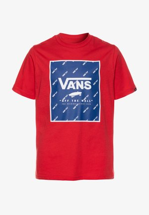 PRINT BOX BOYS - Print T-shirt - racing red/sodalite blue