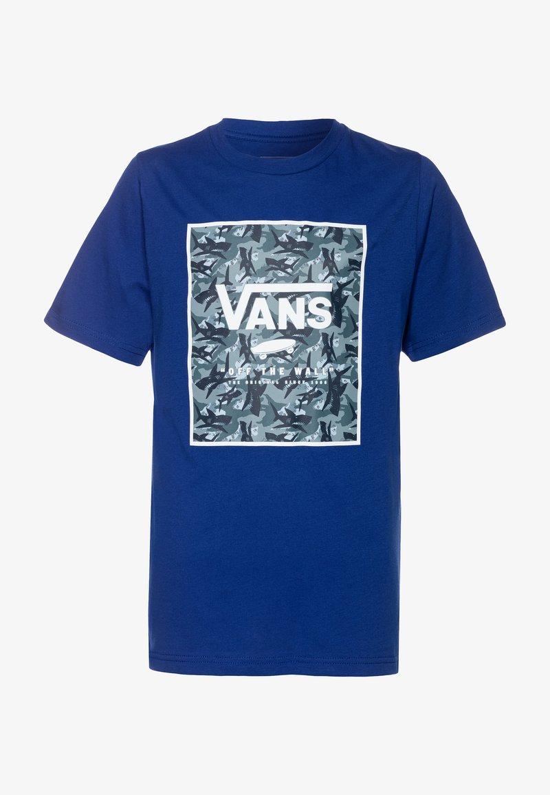 Vans - PRINT BOX BOYS - Print T-shirt - sodalite blue
