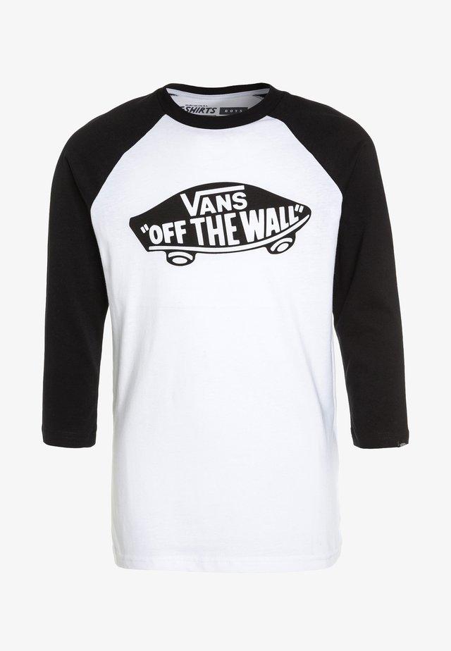 RAGLAN BOYS - Camiseta de manga larga - white/black