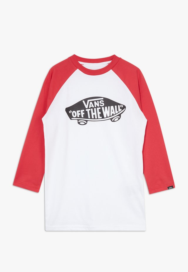 RAGLAN BOYS - Camiseta de manga larga - white/racing red