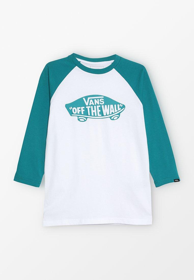 Vans - RAGLAN BOYS - Long sleeved top - white/quetzal