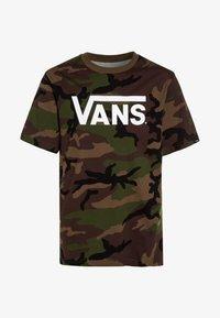 Vans - CLASSIC BOYS - T-shirt med print - brown - 0