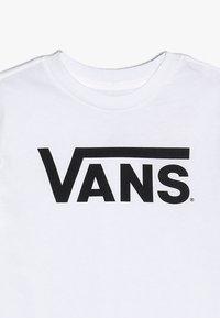 Vans - CLASSIC KIDS - T-shirt med print - whit/black - 3