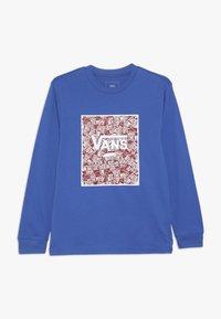 Vans - PRINT BOX BOYS - Long sleeved top - royal blue/racing red - 0