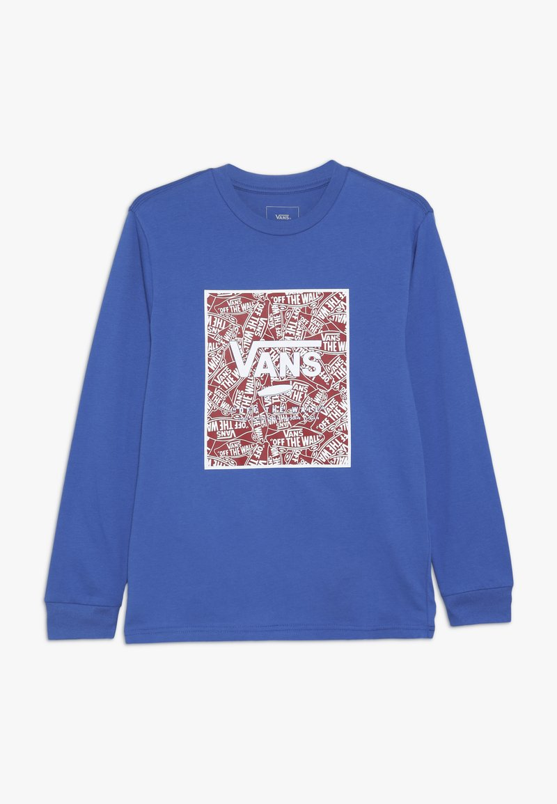 Vans - PRINT BOX BOYS - Longsleeve - royal blue/racing red