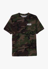 Vans - CLASSIC BOYS - Print T-shirt - dark green - 0