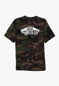 Vans - CLASSIC BOYS - Print T-shirt - dark green - 1