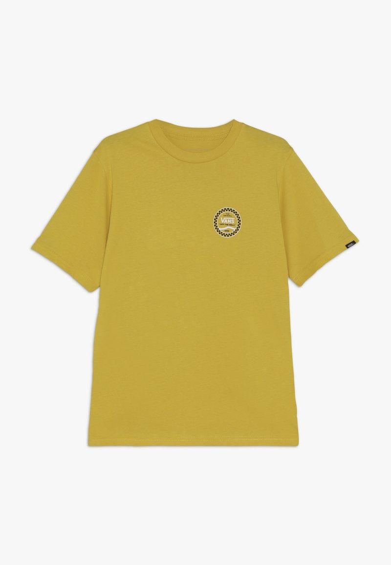 Vans - CHECKERED SIDE STRIPE BOYS - T-shirt imprimé - sulphur