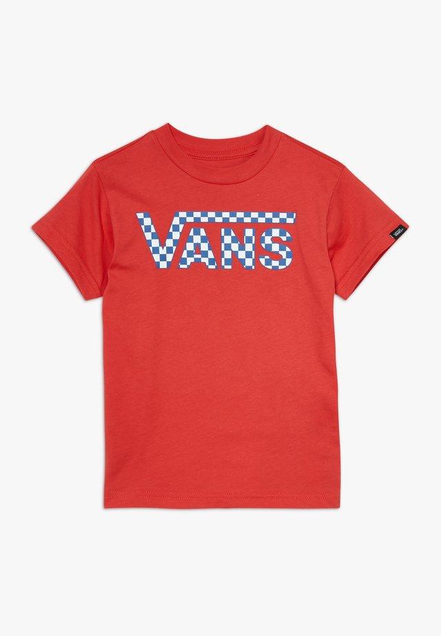 CLASSIC LOGO FILL KIDS - T-shirt med print - racing red
