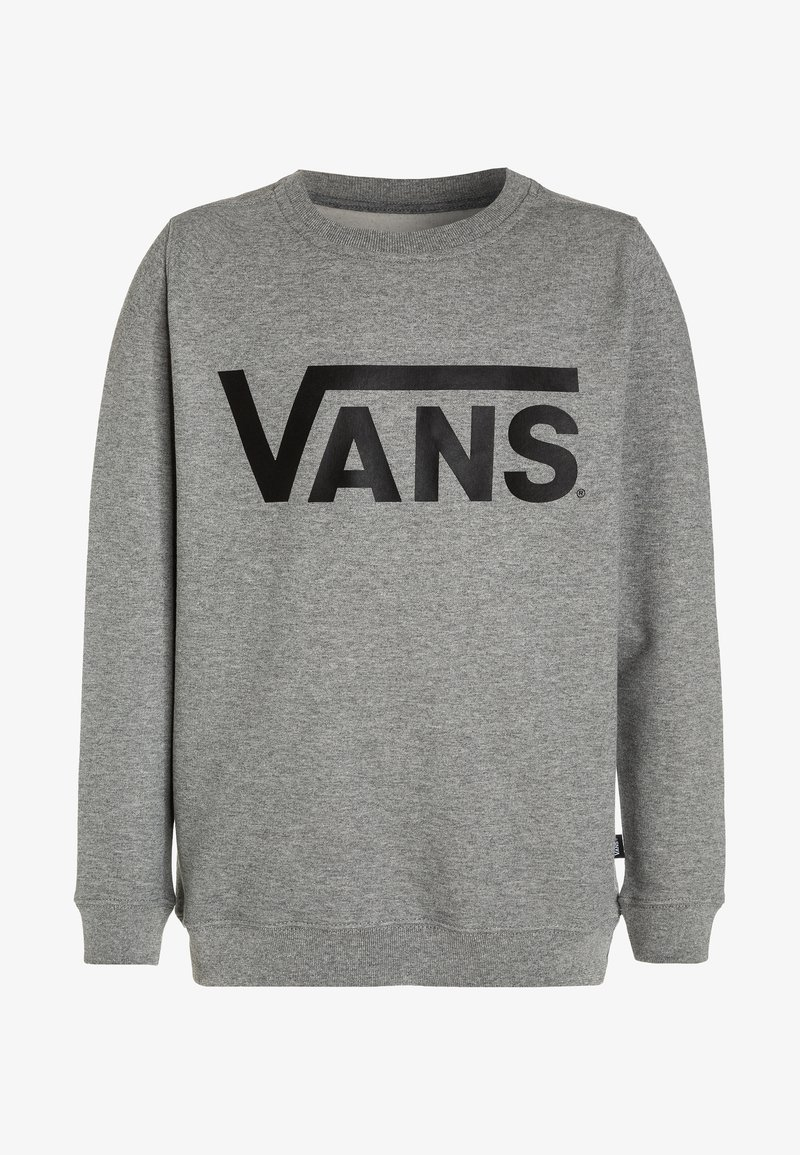 Vans - CLASSIC CREW BOYS - Sweatshirt - concrete heather/black