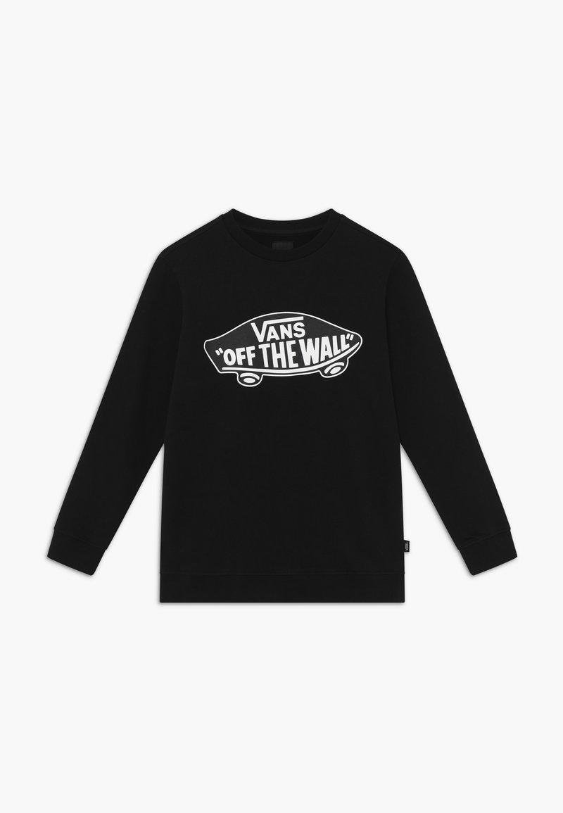 Vans - CREW BOYS - Sweatshirt - black-white outline
