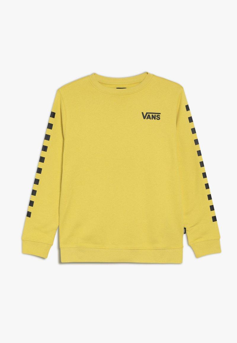 Vans - EXPOSITION CHECK CREW BOYS - Sweatshirts - sulphur/black