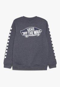 Vans - EXPOSITION CHECK CREW BOYS - Sweater - dress blues heather/white - 1