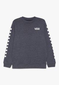 Vans - EXPOSITION CHECK CREW BOYS - Sweater - dress blues heather/white - 0