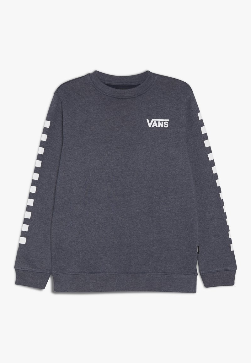 Vans - EXPOSITION CHECK CREW BOYS - Sweater - dress blues heather/white