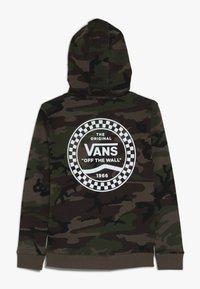 Vans - CHECKERED SIDE STRIPE BOYS - Hoodie - dark green - 1
