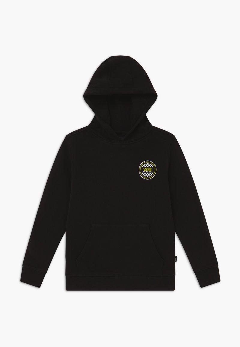 Vans - CHECKER BOYS - Jersey con capucha - black/sulphur spring
