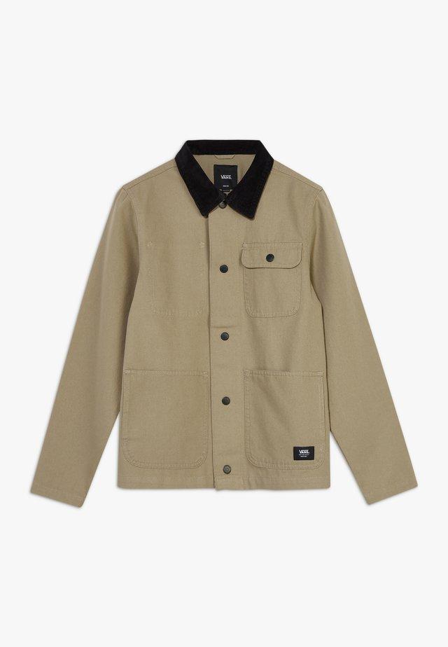 DRILL CHORE COAT BOYS - Jas - military khaki
