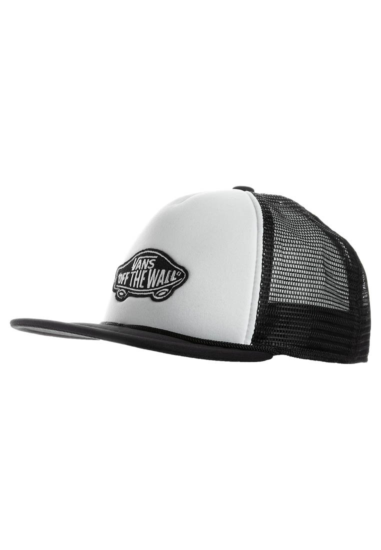 Vans - CLASSIC PATCH TRUCKER - Cap - white/black