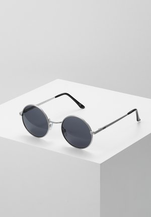 GUNDRY SHADES - Sunglasses - matte silver/dark smoke