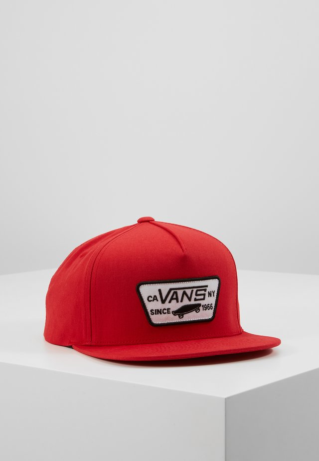 FULL PATCH SNAPBACK BOYS - Cap - racing red