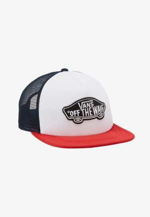 CLASSIC PATCH TRUCKER - Cap - racing red/white