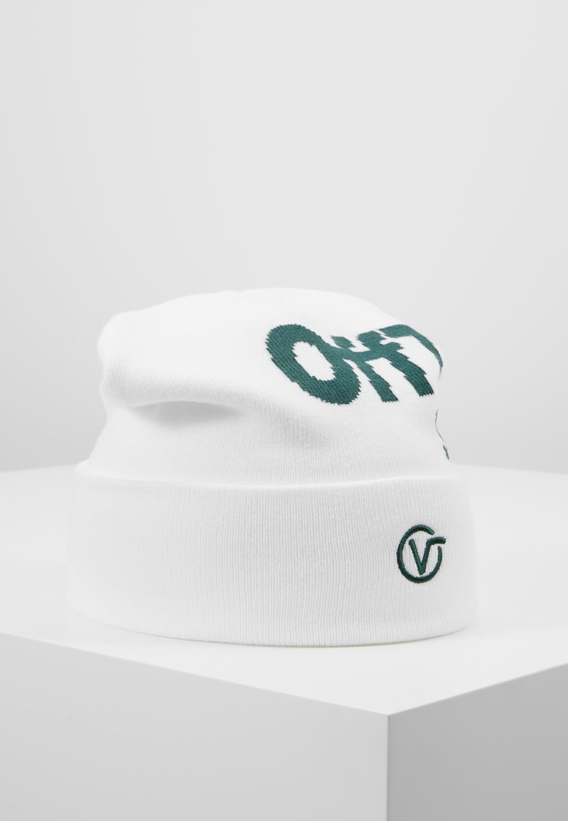 Vans - DISTORTED TALL CUFF BEANIE - Mössa - white/trekking green