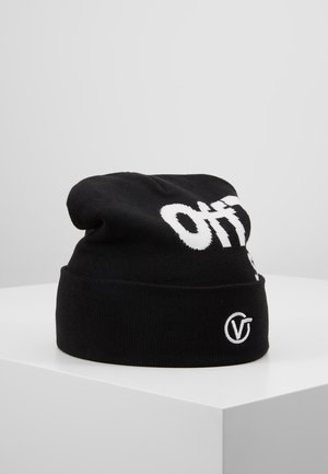 DISTORTED TALL CUFF BEANIE - Czapka - black/white