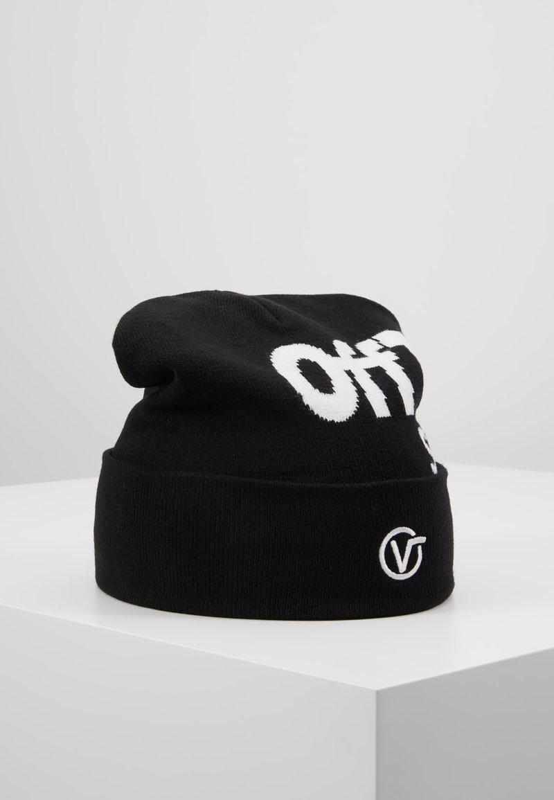Vans - DISTORTED TALL CUFF BEANIE - Mütze - black/white