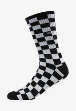 CHECKERBOARD CREW - Calze - black/white