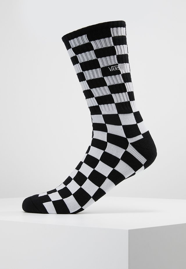 CHECKERBOARD CREW - Calcetines - black/white