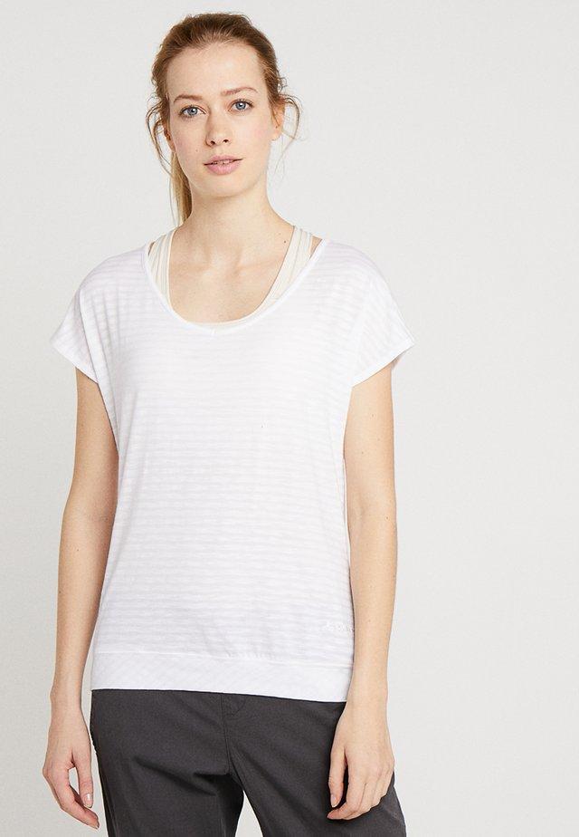 SKOMER - Print T-shirt - white