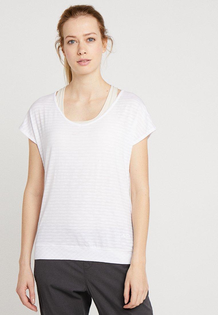 Vaude - WOMENS SKOMER  - T-shirt imprimé - white