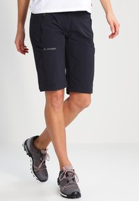 Vaude - WOMEN'S FARLEY STRETCH ZO T-ZIP PANTS 2-IN-1 - Kalhoty - black - 3