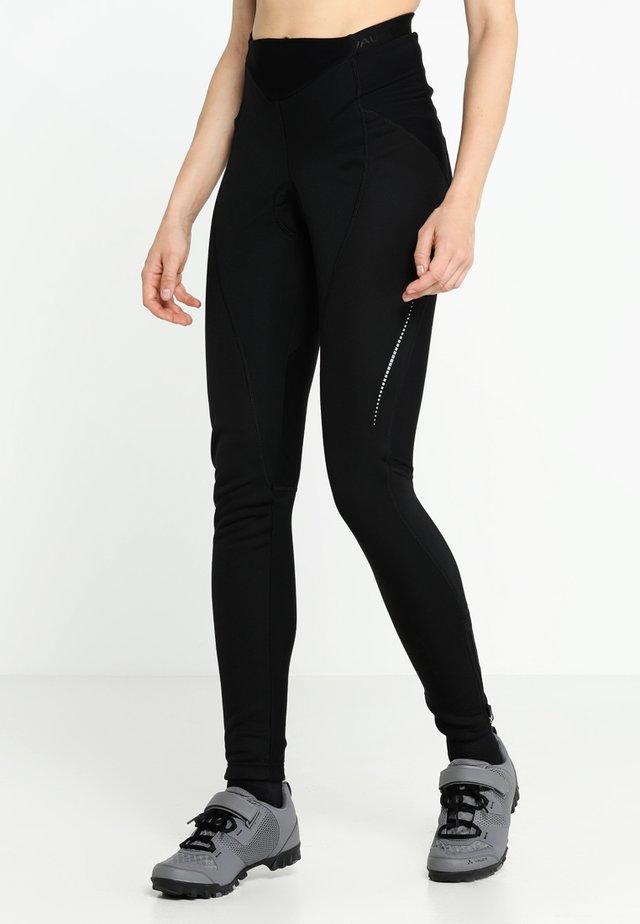WOMEN'S ADVANCED WARM PANTS - Verryttelyhousut - black