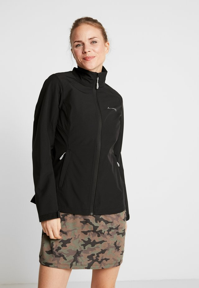 HURRICANE JACKET - Softshellová bunda - black