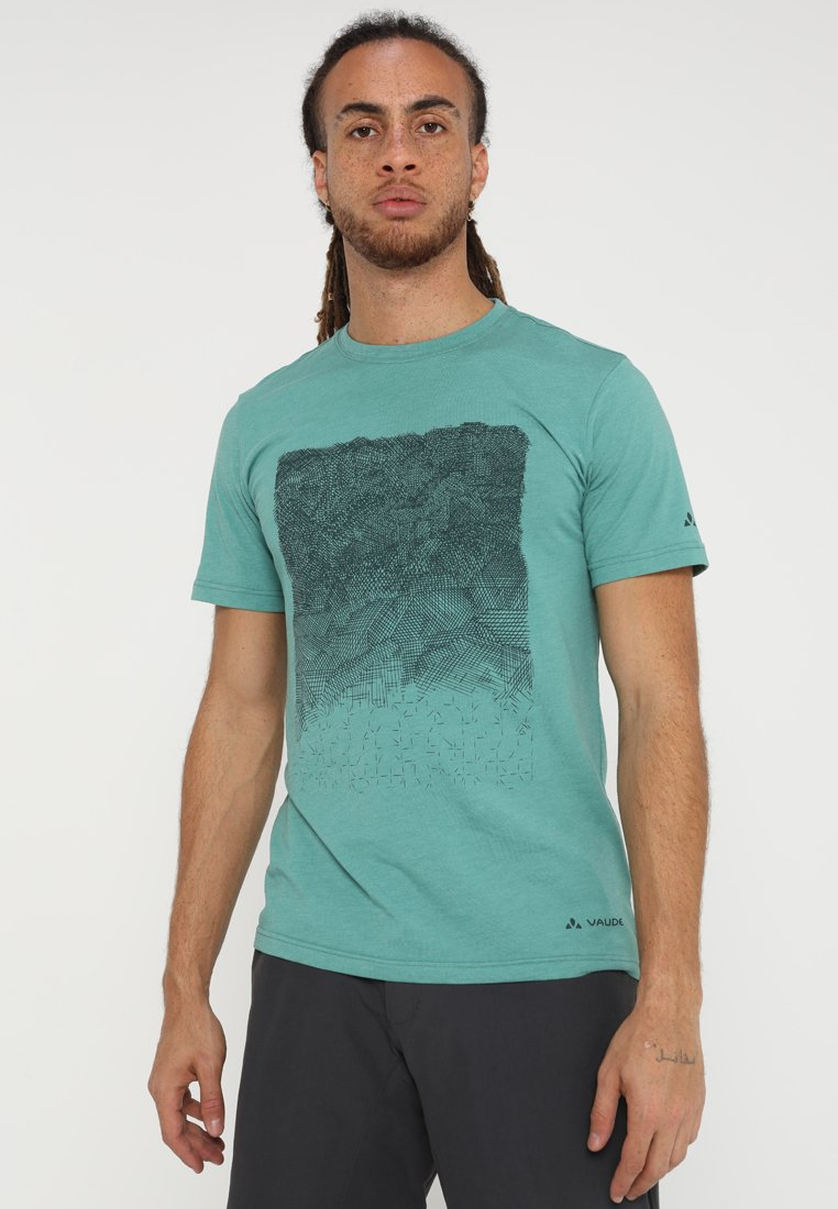 Vaude - ME CYCLIST  - T-Shirt print - nickel green